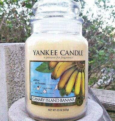 "Yankee Candle Retired World Journeys ""canary Island Banana""~large 22 Oz Rare~new"