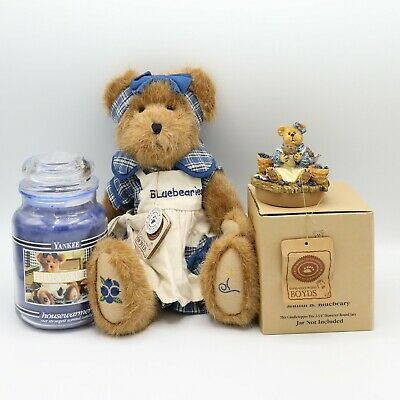 Boyds Bears Muffin B Bluebeary #94693yc Yankee Candle Topper Plush Bear New