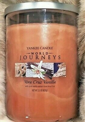 "Yankee Candle World Journeys ""vera Cruz Vanilla""~large 22 Oz ~ 2-wick ~ Rare~new"