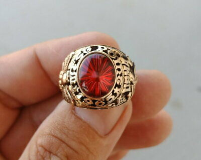 Us Military Academy West Point Rings 1965 Gold 10k Ruby Stone Size 8