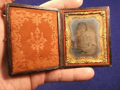 #6 Of 23, Antique Daguerreotype Photograph, Young Girl, With Case, Ninth Plate