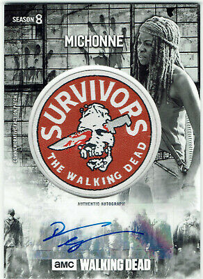 Walking Dead Season 8 Autograph Patch Card Danai Gurira As Michonne Par-smc #4/5