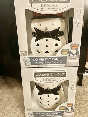 Nib Lot 2 Yankee Candle Jackson Frost Scenterpiece Snowman Easy Meltcup Warmer