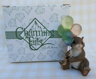 "Charming Tails ""celebrate"" Fitz And Floyd Birthday Balloons 89/307"