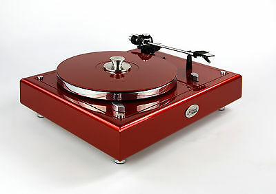 Restored Thorens Td160 Turntable Limited Edition Caliente Red Metallic