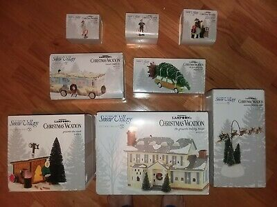 Dept 56 Christmas Vacation Nib Griswold Family House & 7 More
