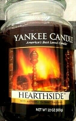 "Yankee Candle Retired ""hearthside"" ~ Large 22 Oz ~ White Label~ Very Rare ~ New"