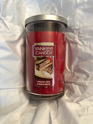 Yankee Candle Sparkling Cinnamon 12 Jar Candle - Brand New