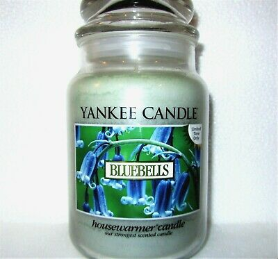 "Yankee Candle Retired ""bluebells""~limited Edition~large 22 Oz.~white Label~ Rare"