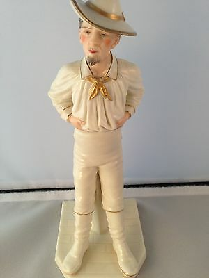 Extremely Rare Royal Worcester Figure The Yankee Dated C1886 Excellent Condition