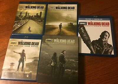 The Walking Dead Blu Ray Disc Sets - Seasons 1, 2, 3, 6, And 7 (used)