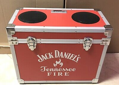 Rare!! / Jack Daniels Tennessee Fire Cooler Stereo / Bt / Fm & Direct Plug / Red
