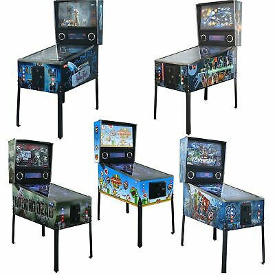"Limited Pinball Collectible Machines With ""42"" Led Screen- Super Mario, Avengers"