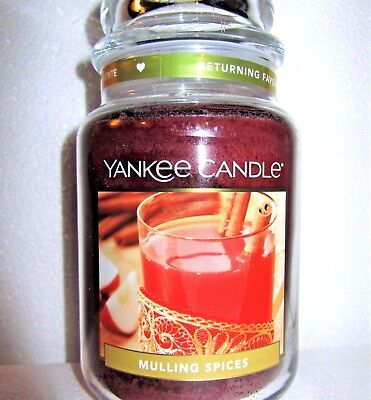 "Yankee Candle ""mulling Spices"" Food Scented Large 22 Oz.~ White Label~ New"