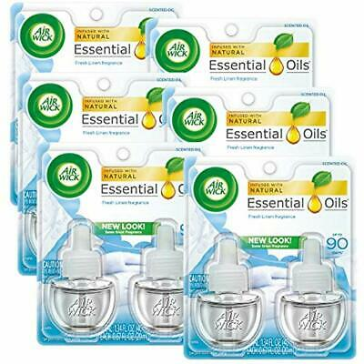 """Plug In Electric Scented Oil 12 Refills, Fresh Linen, (6x2x0.67oz), Same Smell """""""