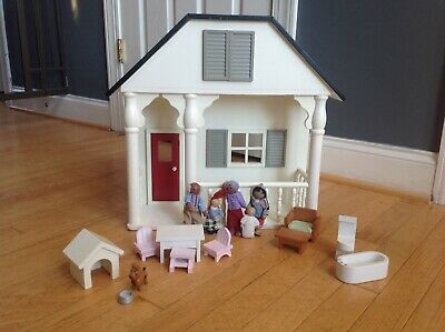 Pottery Barn Kids Carriage House Cottage Dollhouse + Dolls Furniture Dog
