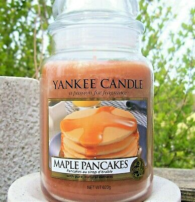 "Yankee Candle Retired ""maple Pancakes"" ~ Large 22 Oz.~ Rare ~ White Label~ New"