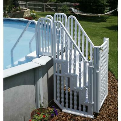 New Bluewave Steps, Ladders & Fencing Ne138 Complete Stair Entry System W/gate