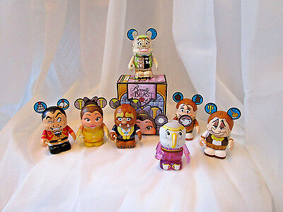 Beauty And The Beast Series 2 Vinylmation-complete Set Of 7-wardrobe Is Variant