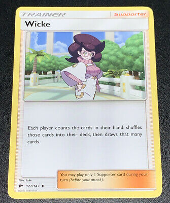 Pokemon Wicke 127/147 Uncommon Trainer Card NM Condition - Burning Shadows