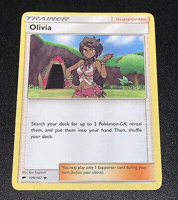 Pokemon Olivia 119/147 Uncommon Trainer Card NM Condition - Burning Shadows