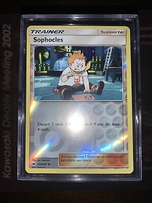 Sophocles 123/147 Reverse Holographic Pokemon Card Sun & Moon Burning Shadows NM