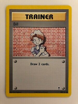 2002 Pokemon Trainer Bill - Legendary Collection 108/110 - Played
