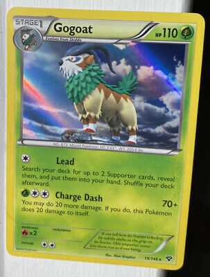 Gogoat XY Base NM/MINT Holo Rare Pokemon Card 19/146 BB