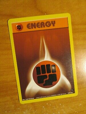 NM (Unlimited) Pokemon FIGHTING ENERGY Card GYM CHALLENGE Set 127/132 COMMON