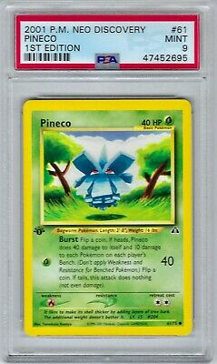 47452695 Mint PSA 9 PINECO #61 │ Neo Discovery 1st Edition │ 2001 Pokemon