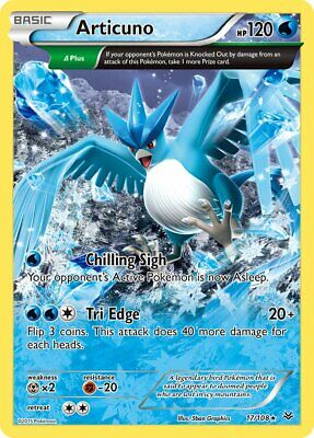 ARTICUNO 17/108 Rare⎜XY Roaring Skies⎜2015 Pokemon LP/Excellent SALE 25% Off 4+