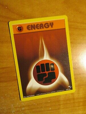 PL (Unlimited) Pokemon FIGHTING ENERGY Card GYM HEROES Set 127/132 Common PLAYED