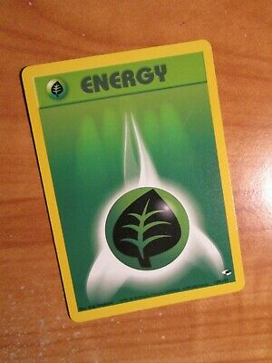 PL (Unlimited) Pokemon GRASS ENERGY Card GYM HEROES Set 129/132 Common PLAYED