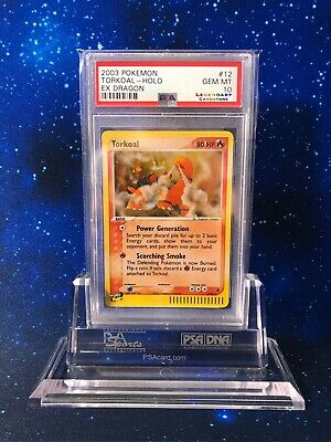 WOW! LOW POP 14 PSA 10 Torkoal Holo EX Dragon 12/97 Pokemon Mint E-Reader P029