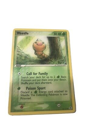 Weedle 86/112 FireRed & LeafGreen Non-Holo Common Pokemon Card NM