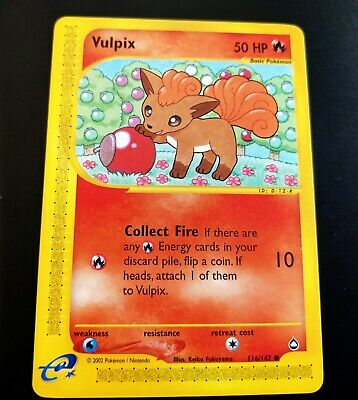 MINT Vulpix 116/147 Pokemon Card Aquapolis NM