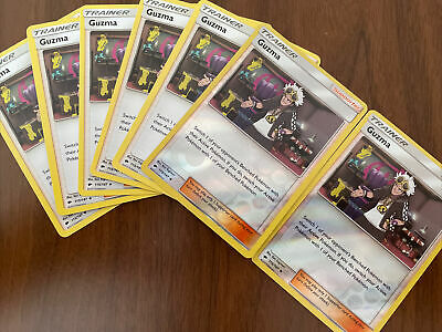 7x Guzma 115/147 Burning Shadows Uncommon Near Mint Pokemon Trainer Card Playset