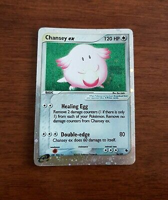 Chansey EX 96/109 Holo Ultra-Rare Ruby and Sapphire Pokemon Card