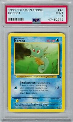 47452772 Mint PSA 9 HORSEA 49/62 │ Fossil Unlimited │ 1999 Vintage Pokemon