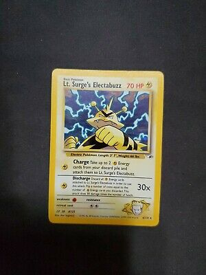 Lt. Surge's Electabuzz 6/132 Holo Unlimited Gym Heroes NM-LP Pokemon Card