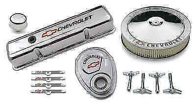 Proform 141-900 Street Performance Chrome Deluxe Dress-up Kit For Chevy Sm Block