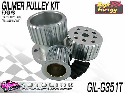 Gilmer Pulley Kit Suit Ford 302 351 Cleveland V8 Falcon 1973-1982 (no A/c