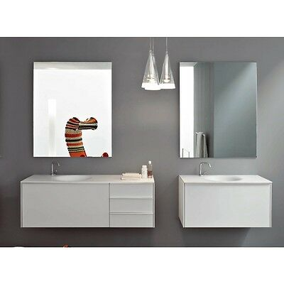 Zucchetti Kos Bathroom Vanity Morphing Suspended Unit With Big Drawer And 3 Draw