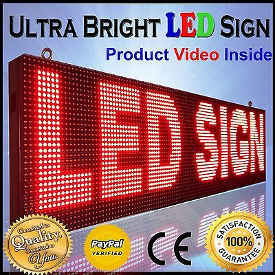"""Red Color Led Sign 13""""x177"""" Outdoor Programmable Scrolling Text Logo Display"""