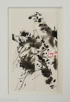 Listed Chinese Artist T'ang Haywen, Signed Original Watercolor