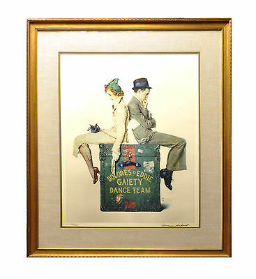 Norman Rockwell Signed Lithograph - Dolores And Eddie Gaiety Dance Team - 193/20