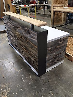 Distressed Desk  With White Accent Surface 6 Foot