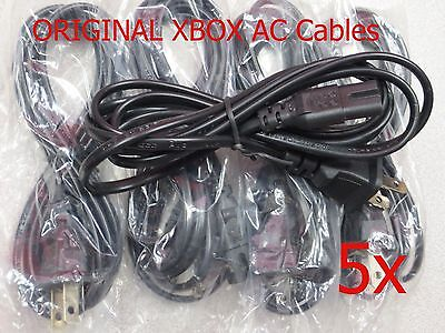 Power Cord Ac Cable For Xbox Original System Console New (lot Of 5)
