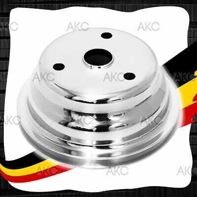 1 Groove Polished Aluminum Crank Pulley For Chevy Small Block Long Water Pump