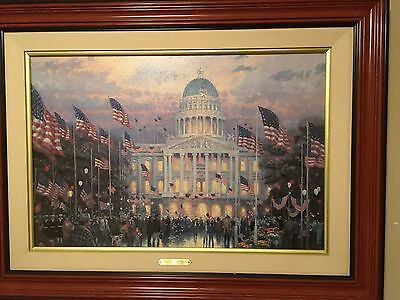Thomas Kincade Flags Over The Capitol 18 X 27 747 Of 980 Limited Canvas